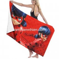 Miraculous Ladybug soft towel set Soft Highly Absorbent Quick Dry Beach for Bathroom Hotel Gym and Spa Washcloths White 52x32 Inch(pp20210327)