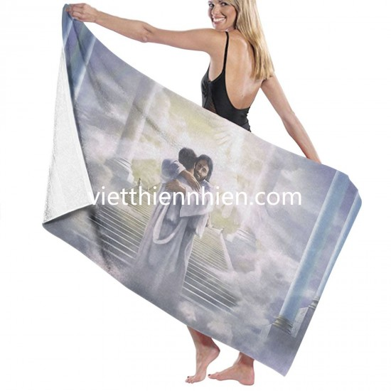 Welcome Home bathroom towels on sale Soft Highly Absorbent Quick Dry Beach for Bathroom Hotel Gym and Spa Washcloths White 52x32 Inch(pp20210327)