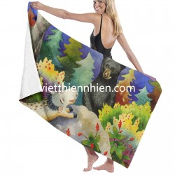 Spike The Dhog Encounters A Mother Bear In The Forest towel set Soft Highly Absorbent Quick Dry Beach for Bathroom Hotel Gym and Spa Washcloths White 52x32 Inch(pp20210327)
