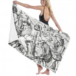 17th Century Blood Rain Occurrence big towels on sale Soft Highly Absorbent Quick Dry Beach for Bathroom Hotel Gym and Spa Washcloths White 52x32 Inch(pp20210327)