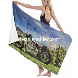 1951 Harley Davidson Motorcycle Chopper big towels on sale Soft Highly Absorbent Quick Dry Beach for Bathroom Hotel Gym and Spa Washcloths White 52x32 Inch(pp20210327)